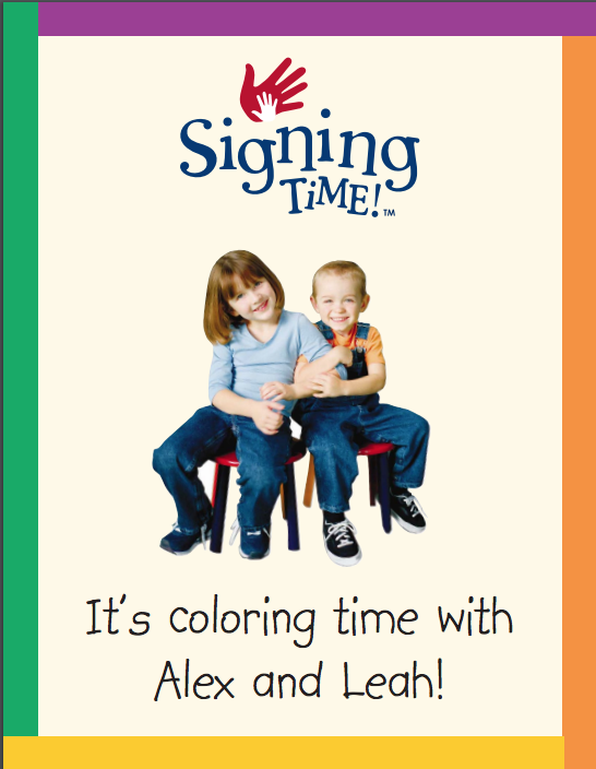 Signing Time Coloring pages